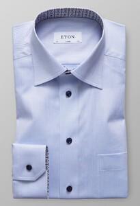 Eton Uni Medallion Details Licht Blauw