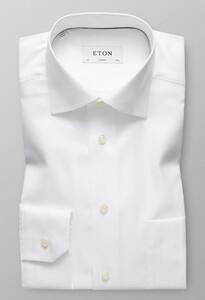 Eton Herringbone Twill Wit
