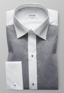 Eton Plissé Shirt Grijs