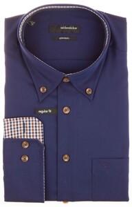 Seidensticker Sporty Contrasted Dress Shirt Navy
