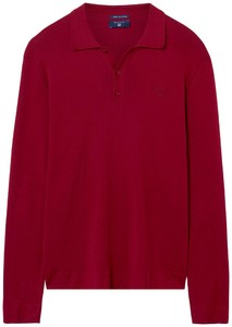 Gant American Pima Cotton Long Sleeve Polo Winter Wine