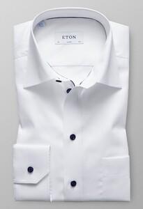 Eton Signature Twill Contrasted Uni Wit