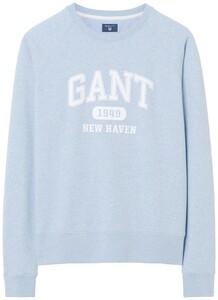 Gant The Summer Logo Sweat Light Blue Melange