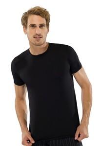 Schiesser T-Shirt Ronde Hals Nachtschwärmer Zwart