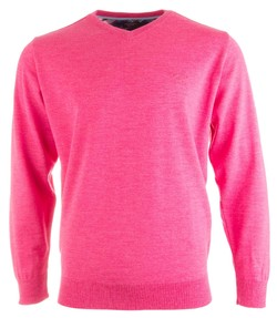 Paul & Shark Three in One Wool V-Neck Roze