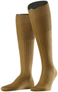 Falke No. 13 Finest Piuma Cotton Knee High Dark Khaki