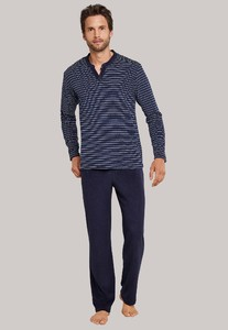 Schiesser Royal Garden Pyjama Royal Blue