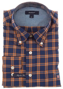 Gant Wilmington Twill Check Orange