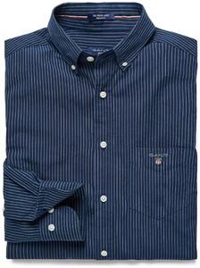Gant Shirt Krijtstreep Donker Indigo