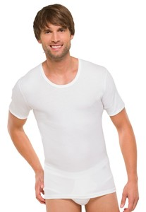 Schiesser Cotton Essentials Doppelripp T-Shirt Wit