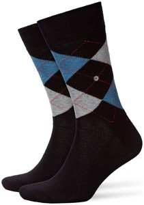 Burlington King Socks Zwart Melange