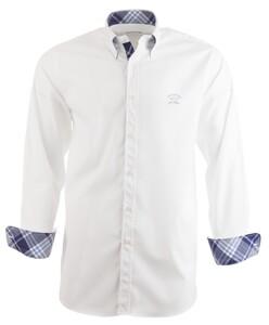 Paul & Shark Plain Check Contrast Shirt Wit