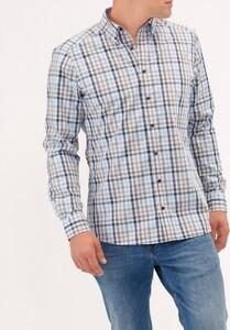 Maerz Mini Check Overhemd Whispering Blue