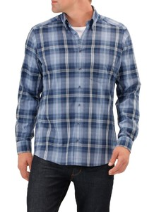Maerz Flanel-Optiek Check Orient Blue