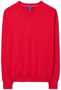 Gant Cotton V-Neck Bright Red