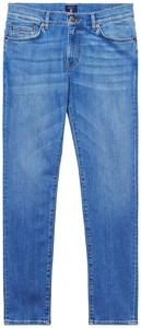 Gant Slim Straight Jeans Semi Light Indigo Worn In