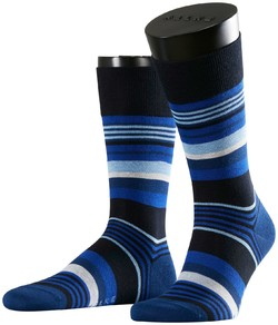 Falke Multistripe Socks Dark Navy