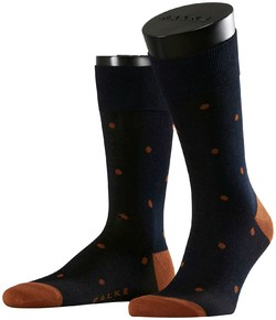 Falke Dotted Socks Midnight Navy