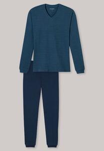 Schiesser Family Pyjama Lang Blauwgroen