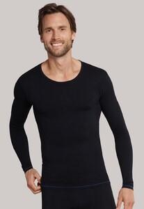 Schiesser Seamless Active Shirt Longsleeve Zwart