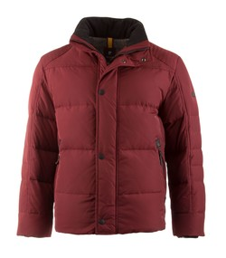Pierre Cardin Real Down Step Jacket Donker Rood