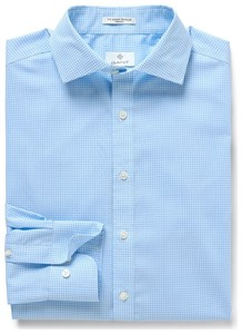 Gant Stretch Broadcloth Gingham Capri Blue