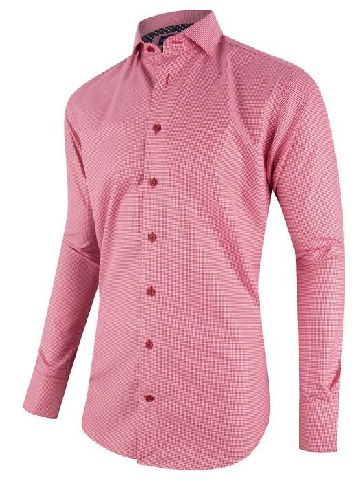 Overhemd Rood Zwart.Cavallaro Napoli Moreno Overhemd In Kleur Rood Zwart Jan Rozing