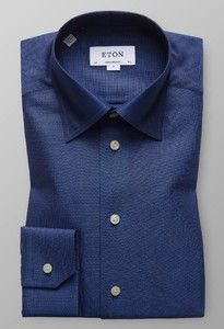 Eton Oxford Button Under Donker Blauw