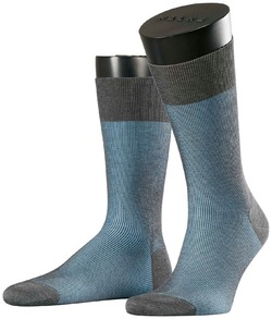 Falke Fine Shadow Sok Grey-Light Blue