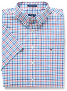 Gant The Broadcloth 3 Color Gingham Strong Coral