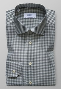 Eton Check Stretch Groen