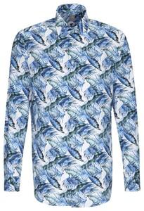 Jacques Britt Leaf Shirt Sky Blue Melange