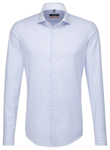 Seidensticker Spread Kent Business Stripe Pastel Blauw