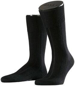 Falke No. 3 Socks Finest Camel and Silk Black