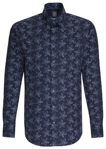 Jacques Britt Floral Custom Navy