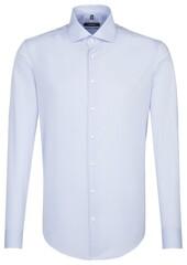 Seidensticker Tailored Uni Spread Kent Blauw
