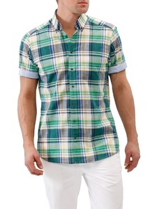 Maerz Short Sleeve Multi Check Spanish Green