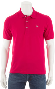 Lacoste Stretch Slim-Fit Polo Fuchsia
