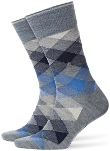 Burlington Newcastle Socks Smoke Blue