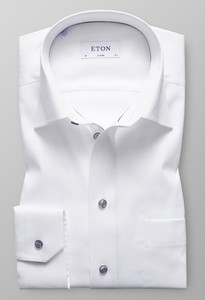 Eton Contrasted Button Wit