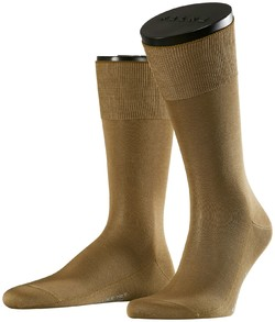 Falke No. 9 Socks Egyptian Karnak Cotton Dark Khaki