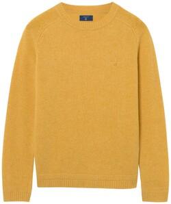 Gant Shetland Pullover Dark Yellow Melange