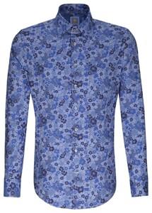 Jacques Britt Flower Contrast Navy Blue