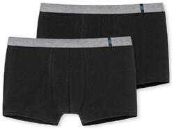 Schiesser 95/5 Shorts 2Pack Zwart