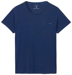Gant Sunbleached T-Shirt Donker Blauw