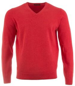 Alan Paine Rothwell Cotton-Cashmere V-Neck Pullover Chilli