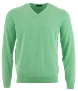 Alan Paine Rothwell Cotton-Cashmere V-Neck Trui Spearmint