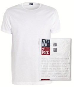 Alan Red Derby 2-Pack T-Shirt Wit