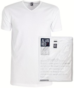 Alan Red Oklahoma 2-Pack T-Shirt Wit