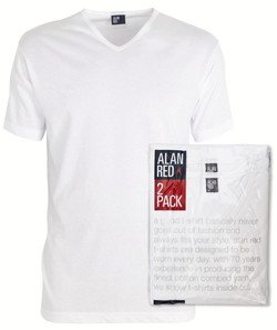 Alan Red Vermont 2-Pack T-Shirt White